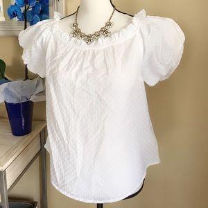 Anthropologie Maeve white short sleeved blouse